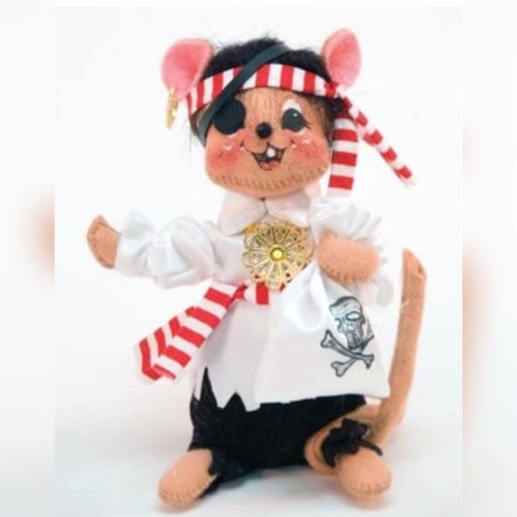 """Annalee 6"""" Trick or Treat Pirate Mouse 2008 NWT"""